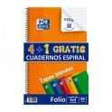 Pack de 4+1 Cuadernos OXFORD, tamaño Folio