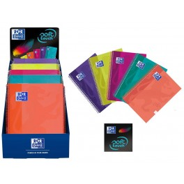 Cuaderno A4 Microperforado con Cuadrícula Soft Touch Oxford